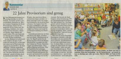 Bücherei Kommentar OV SPD - Auszug aus dem Westallgäuer vom 31.01.2017